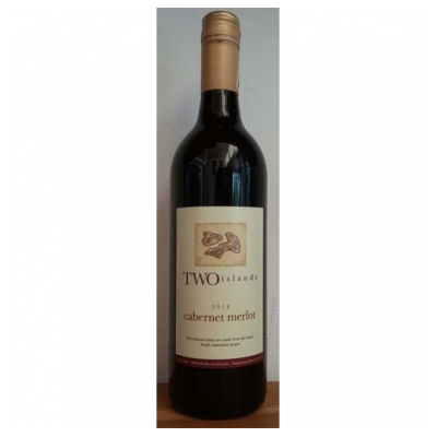 WINE BOTTLE TWO ISLAND CABERNET MERLOT