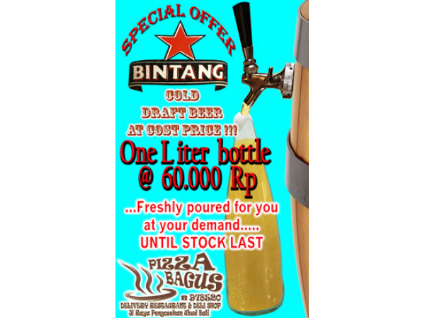 Beer Bintang Draught At Cost Price!!